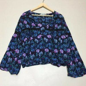 Kimchi Blue Urban Outfitters Floral Black Top